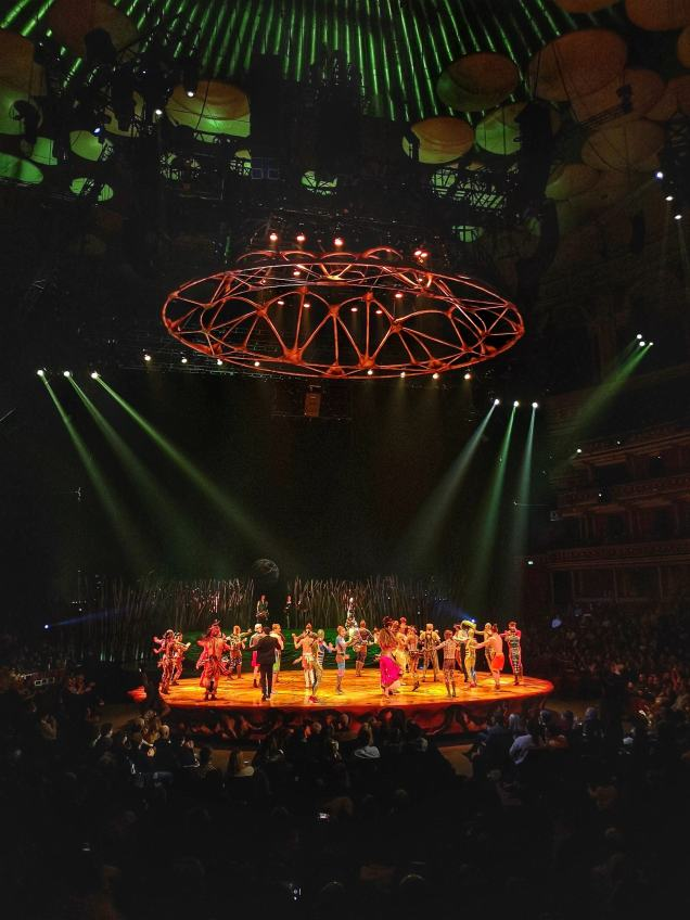 Totem Cirque du Soleil London final stage
