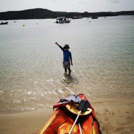 Es Grau Kayaking Menorca with kids