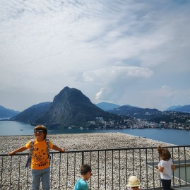 things to to in Lugano with kids : funicular & mountains