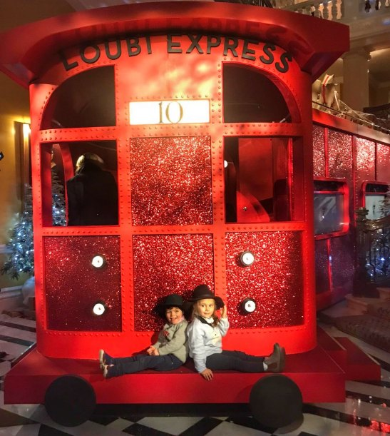 London in December with kids #CulturedKids #52 Claridges Loubi Express