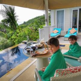 Villa dining Banyan Tree Seychelles