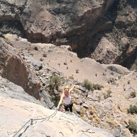 Alila Jabal Akhdar Via Ferrata with the best Oman local guide