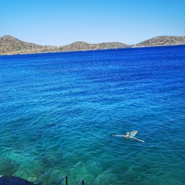 Awesome swimming and snokeling at Elounda Beach