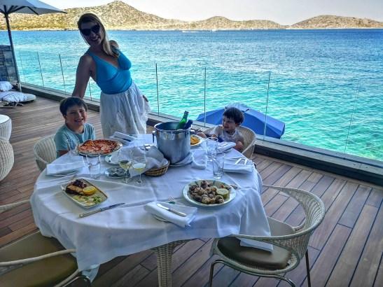 Luxury villas Elounda in room dining
