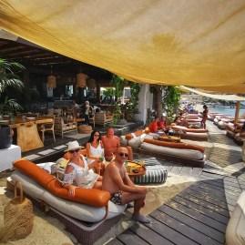 Best beach clubs Mykonos Hippie Fish
