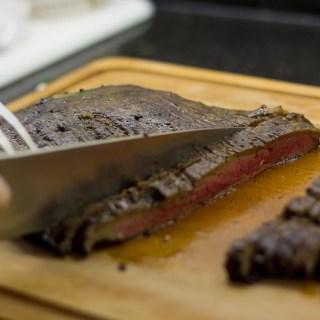 Marinated Flank Steak with Mushrooms