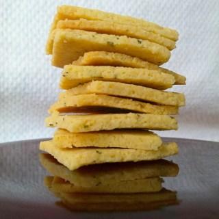 Grain-Free Rosemary Olive Oil Crackers