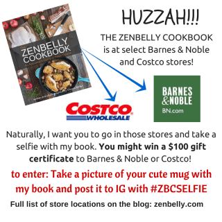 The Zenbelly Cookbook – RELEASE DAY & a chance to win stuff!