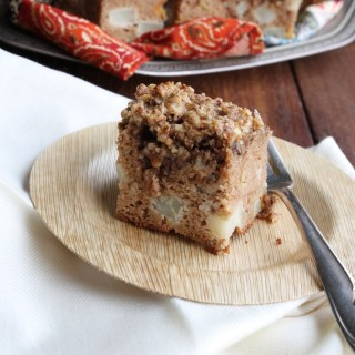 pear pecan coffee cake