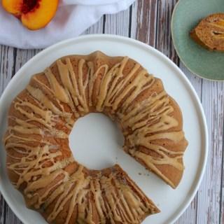 Earl Grey Peach Cake