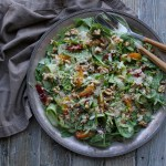 sesame spinach and citrus salad