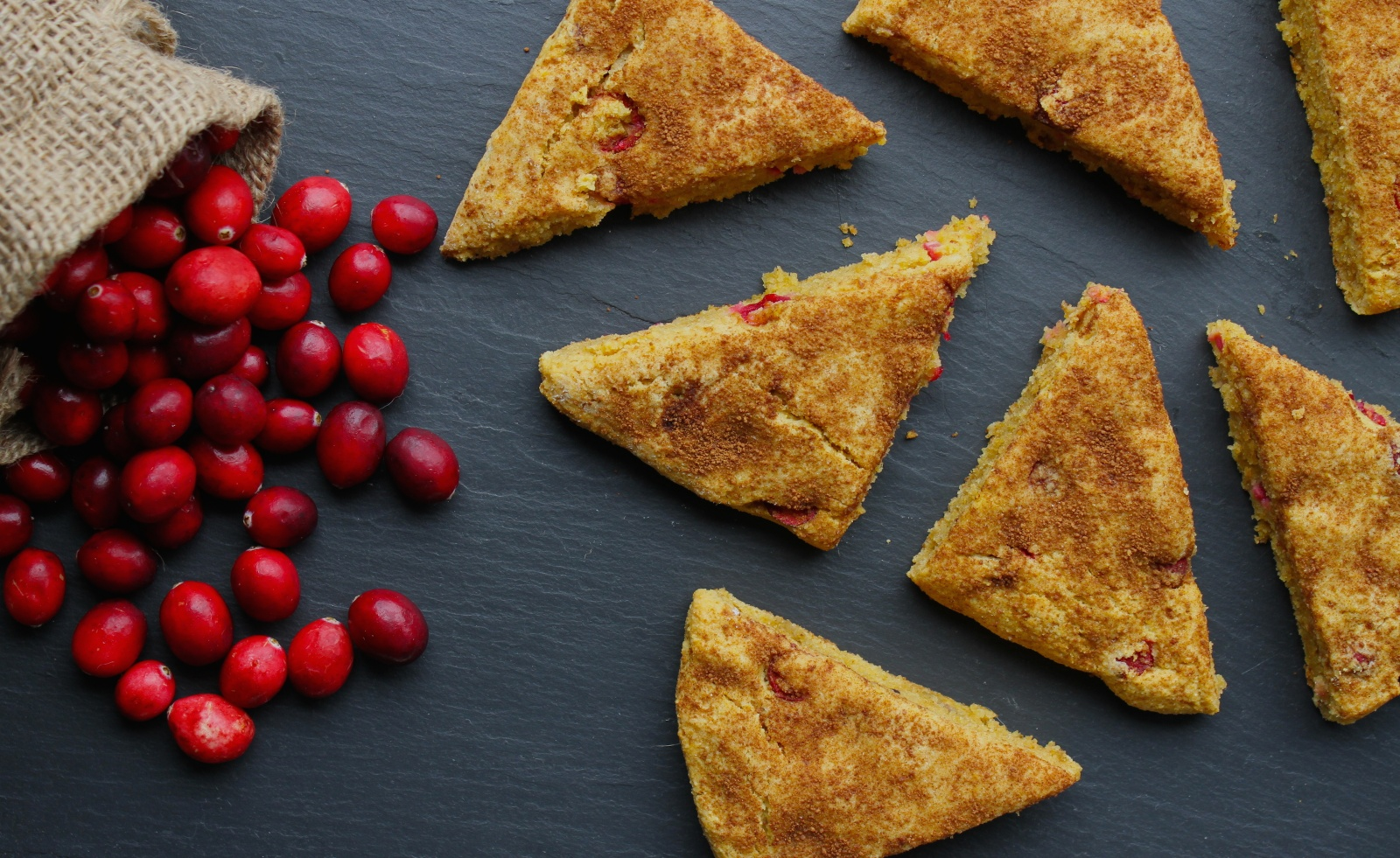 paleo pumpkin cranberry scones