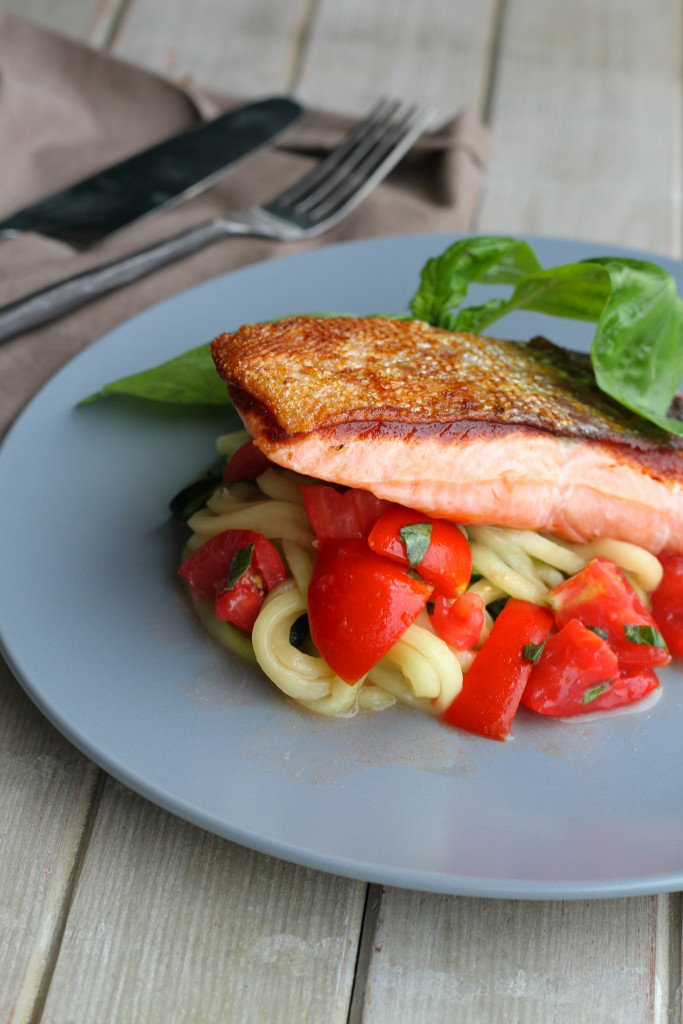 crispy skin sous vide salmon