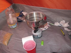 Inside my tent, and a boring photo from a camera test.