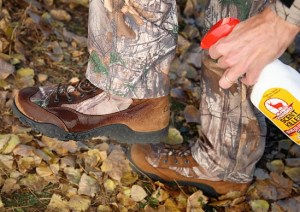 It's a good idea to use scent-eliminating spray on your boots and outerwear while in the field.