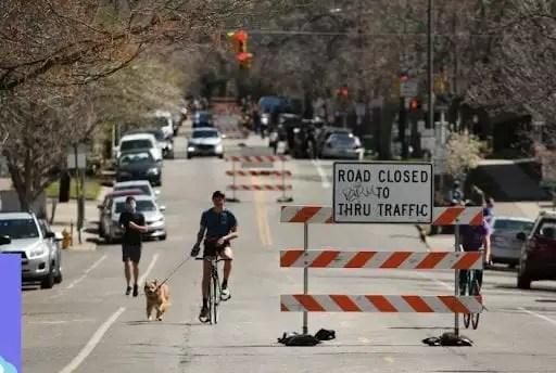 coronavirus road close
