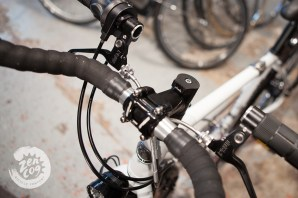 The Rohloff hub powers a USB charger to keep GPS and phone charged on the road.