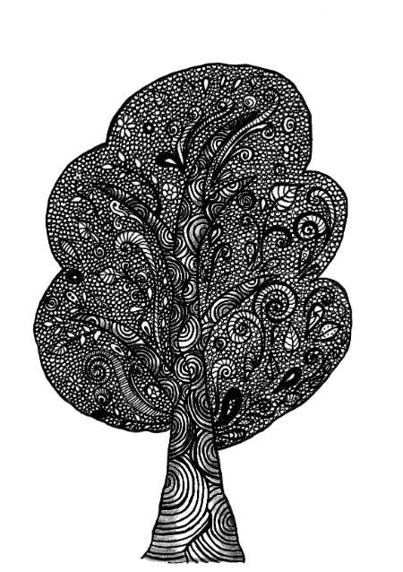 Zentangle Tree 1 Zendoodle Art Amp Stuff