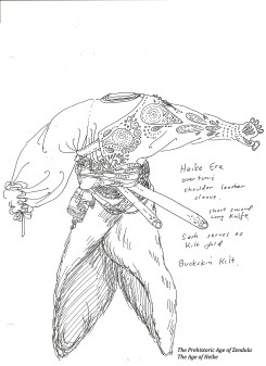 heike armor sleve leather kilt cira prehistoric era