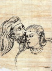 miles and wisteria kiss - e scroll
