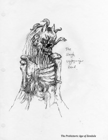 slaugh unforgiving dead drawing of gods and monsters of prehistoric age