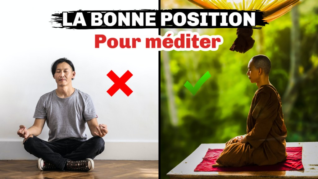 COmment méditer dans la bonne position