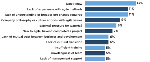 why agile project fail