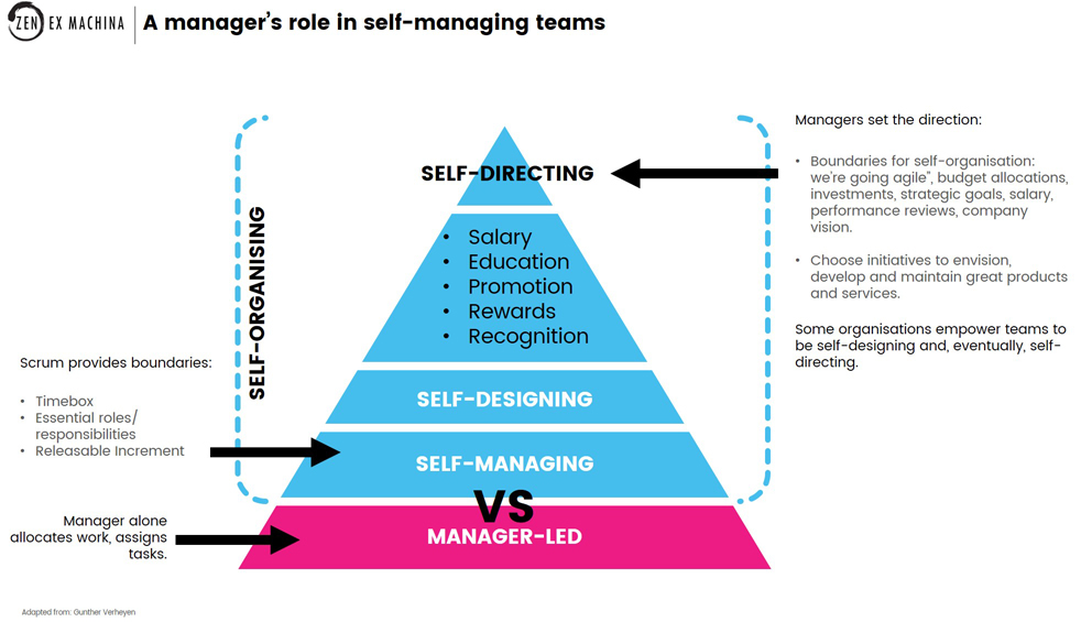 managers role in self-managing teams
