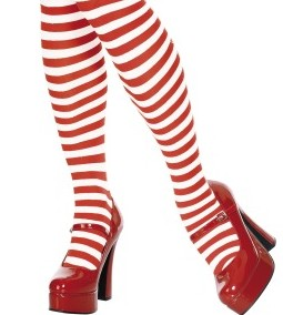 Goofy passion for red and white striped socks :)