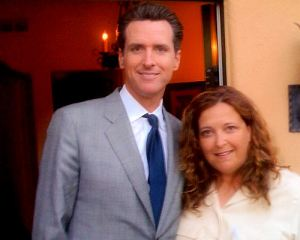 Deb Blaine with Gavin Newsom @ LA Fundraiser