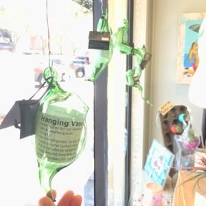 blown glass hanging vase