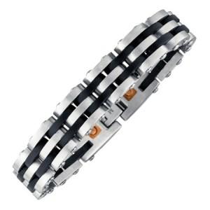 Bracelet magnétique Black Stripes pour hommes 4462 zen humeur