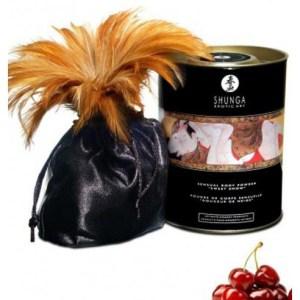 Poudre de massage corporelle comestible cerises ardentes