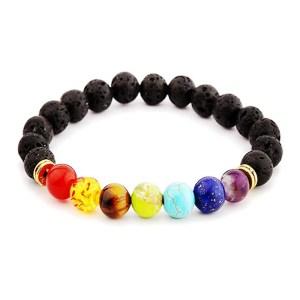 bracelet de pierre naturel lave