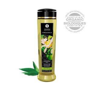 Huile de massage aphrodisiaque Organica bio thé vert