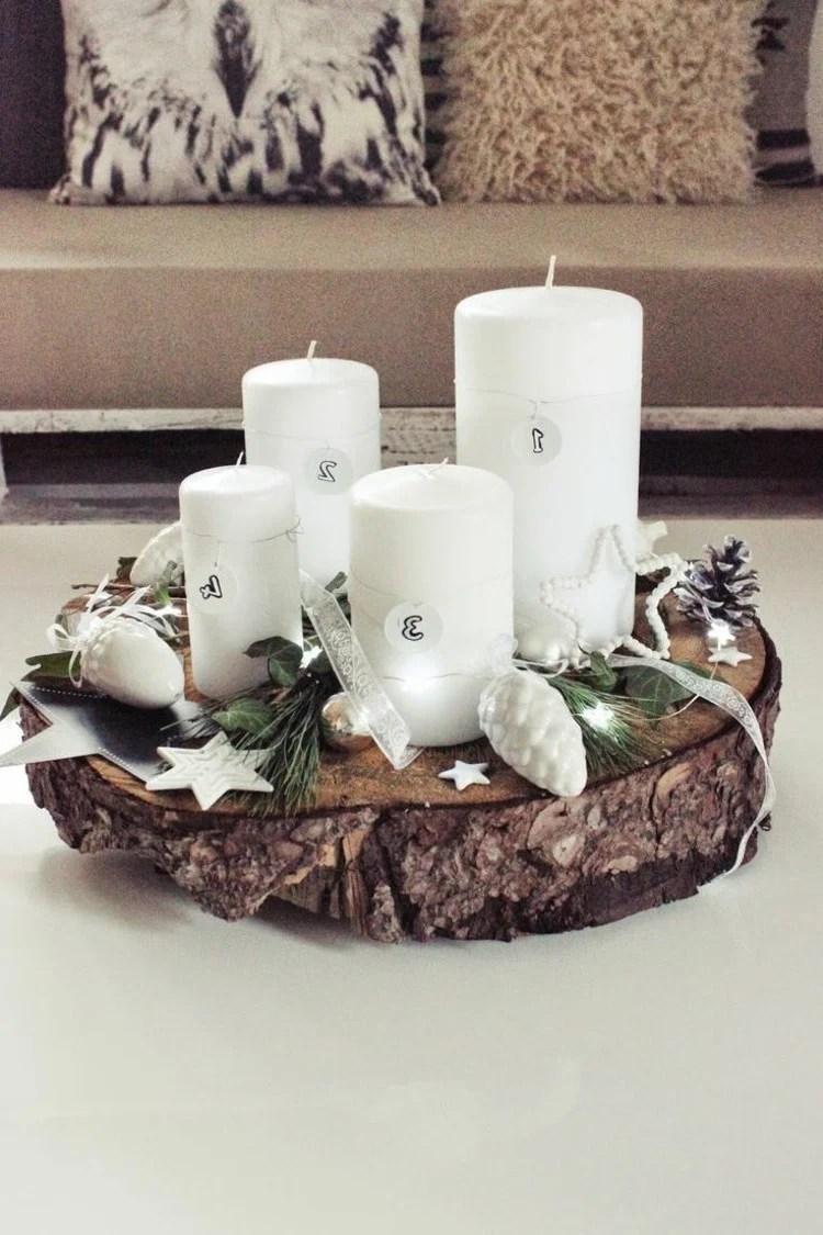 Adventskranz bestellen oder selber basteln - 44 kreative Ideen - DIY, Weihnachtsdeko Ideen