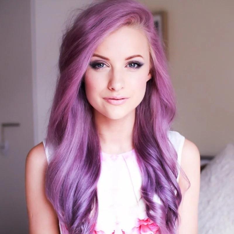 Lila Haare Haare In Knallfarben Sind In Frisurentrends