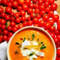 Supa crema de rosii coapte cu branza feta