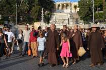 Thich Nhat Hanh a Roma, in Piazza del Popolo