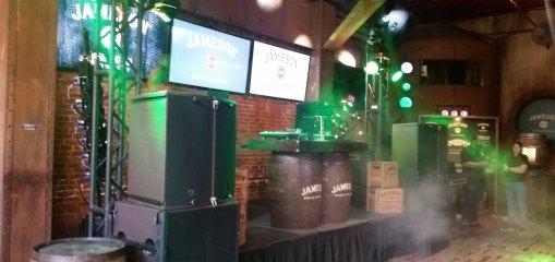 jameson whiskey party zenith lighting preshow