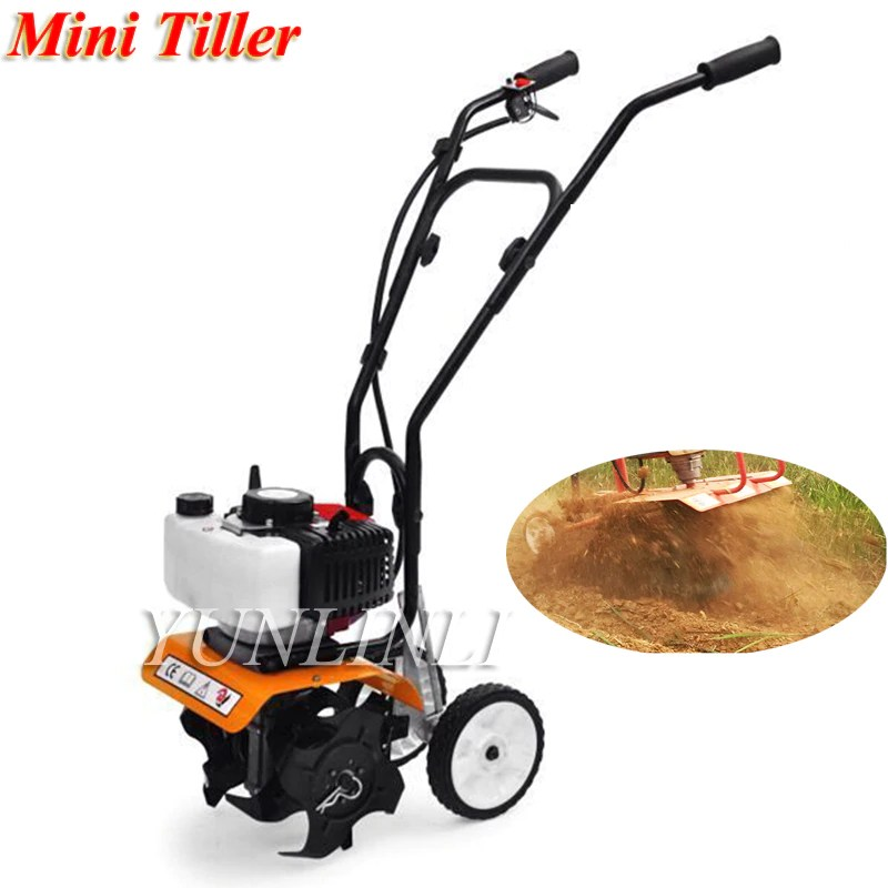 52cc Mini Tiller Garden Cultivator Rotary Hoe Tine Tiller 1650W Cultivator Pro Machine For Soil Loosening Equipment 1E44F-5