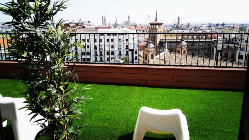 Vistas del Zenit Don Yo en el centro de Zaragoza