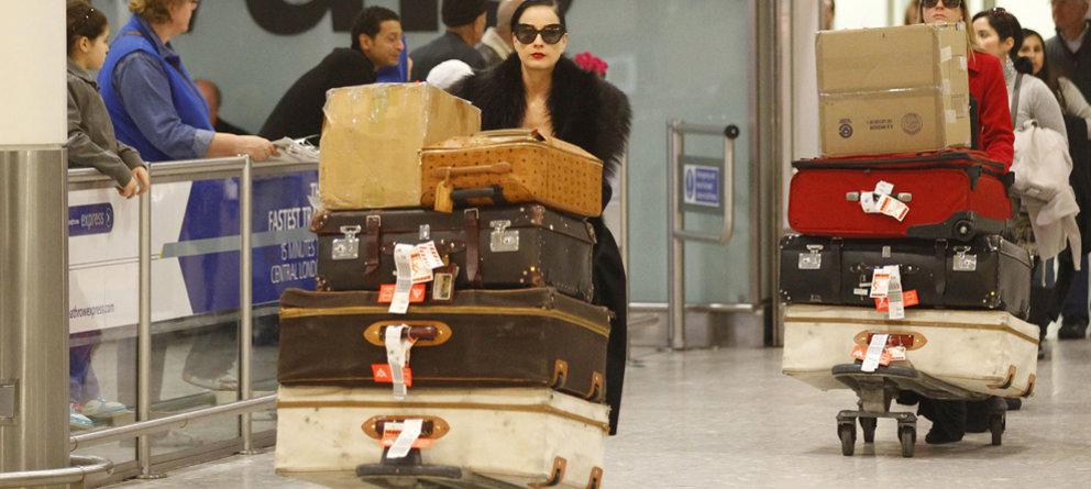 Viajar con mucho equipaje