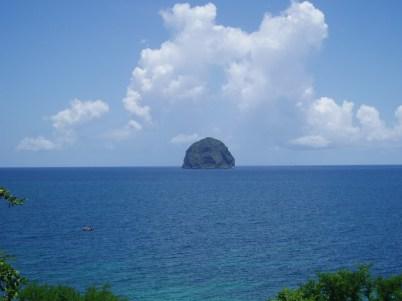 Le rocher du Diamant (où Omaya a fait son baptême de plongée)