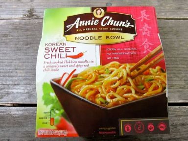 Annie Chun's Korean Sweet Chili noodle bowl