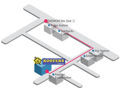Roofers map
