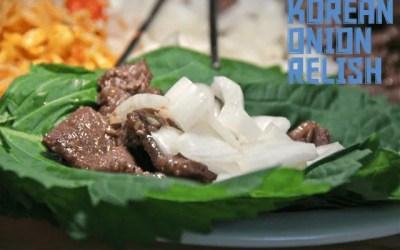 Korean Onion Relish