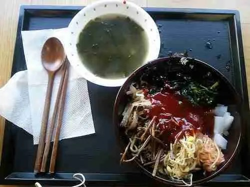 Buddhist Temple Lunch: Day 5–Bibimbap