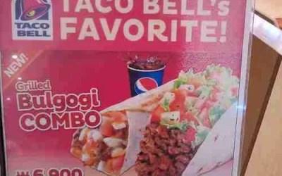 Taco Bell's Grilled Bulgogi Taco and Burrito