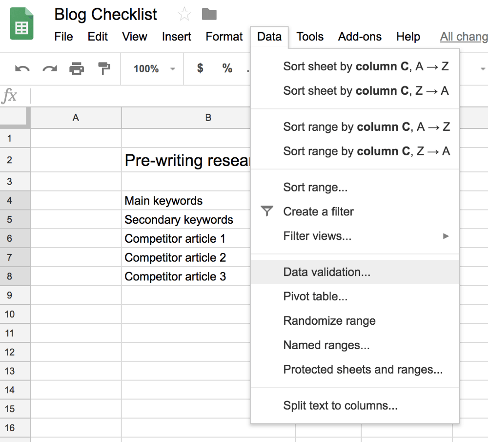 The spreadsheet can be used to coordinate. How To Create A Google Sheets Checklist Zenkit